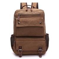 High Quality Brand Canvas Backpack Men Women Versatile Large Capacity Leisure Multi Purpose Travel Bag Laptop