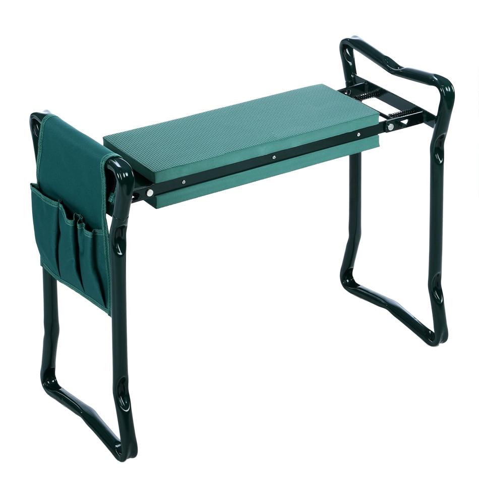 Homdox Folding Stainless Steel Garden Kneeler Stool Eva