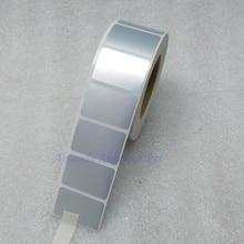 Наклейка для этикеток 30x20 мм 1000 штук/рулон Серебряная наклейка Серебряная ПЭТ-этикетка водостойкая маслостойкая этикетка штрих-кода