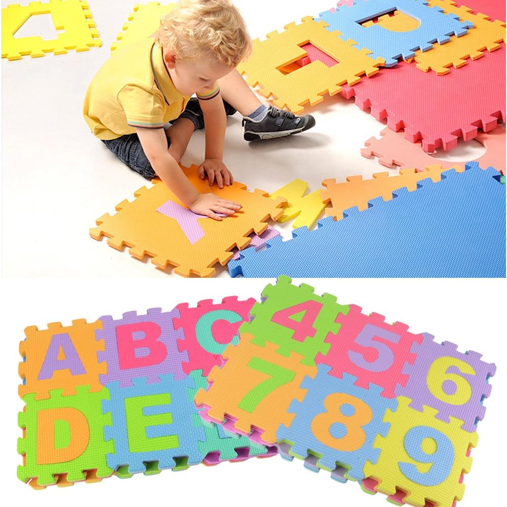 36pcs soft eva foam baby children kids play mat alphabet number puzzle jigsaw for children 39 s. Black Bedroom Furniture Sets. Home Design Ideas