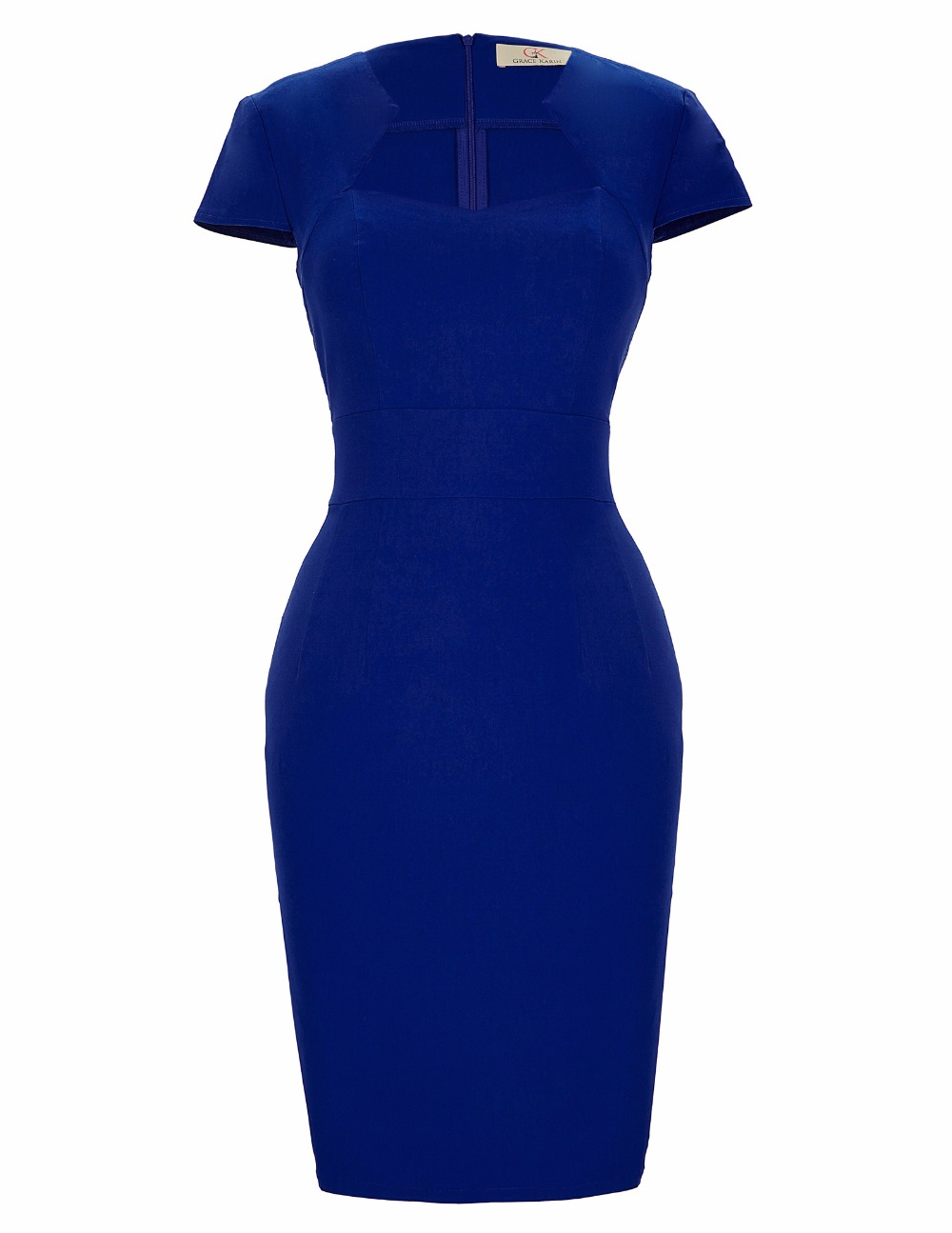 Womens Bodycon Dresses Summer Clothes 2017 Short Sleeve Sexy Club Party dress Vintage Work Wear Black Blue Pencil Office Dresses