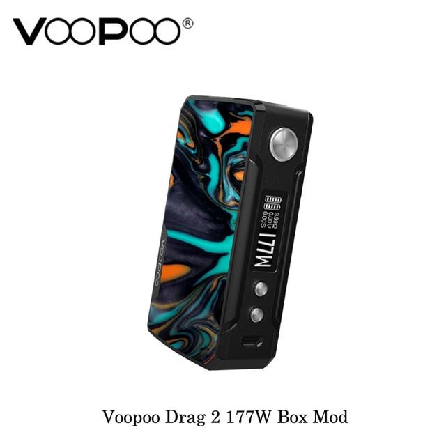 , Voopoo Drag 2 Platinum 177W TC Box Mod GENE.FIT Chip Powered By Dual 18650 Battery Vape Vaporizer Kit electronic cigarette