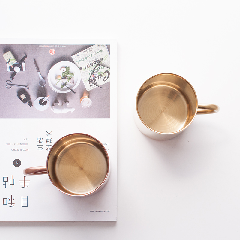 Thickened Double Wall Mugs in Stainless Steel 2
