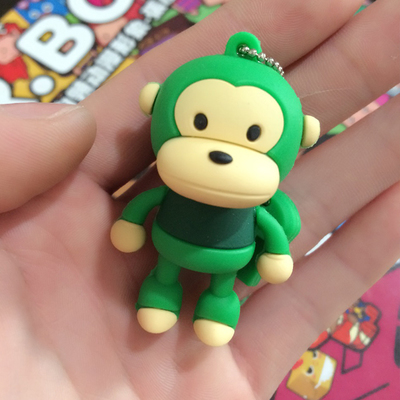 3D Cartoon Monkey Shape 8 Colors Real Capacity 8GB 16GB 32GB 64GB USB Flash Drive Pen Drive USB 2.0 Cheap Pendrive 8GB Gift