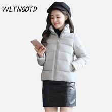 2017 winter new cotton coats women short Slim Mandarin Collar small cotton jacket Female thick warm Parkas
