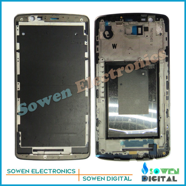 100%  LCD screen front Middle Front Frame Housing Cover Face plate Bezel with glue For LG G3 D851 D855 VS985 LS985 D850