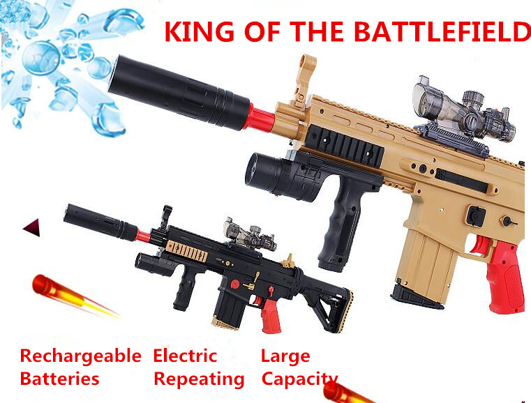 Cool!!!Electric Toy Gun Scar Paintball Soft Bullet Gun Rifle Assault Battlefield Snipe Weapon Hero Boy Adult Toy Gift assault rifle style zinc alloy gun keychain toy silvery black