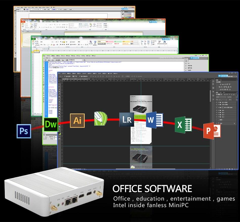 Eglobal Nuc Fanless Mini Pc Windows 10 Aes-ni Pfsense Openvpn Barebone Computer Intel N3150 Quad Core Max 2.08ghz 2*lans 2*hdmi #5