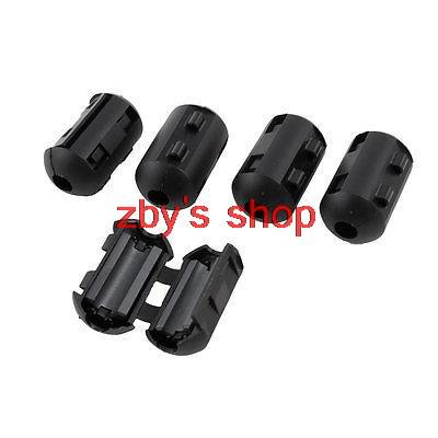 Black 10pcs uxcell 11mm Ferrite Cores Ring Clip-On RFI EMI Noise Suppression Filter Cable Clip
