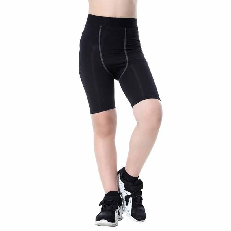 Kids Boys Tight Compression Skin Leggings Base Layer Sports Shorts Long Pants UK