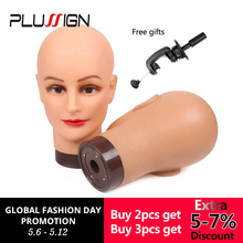 Professional Styling Head Female Mannequin 20Inch Training With Table Clamp For Wig Making Hat Display Makeup Practice