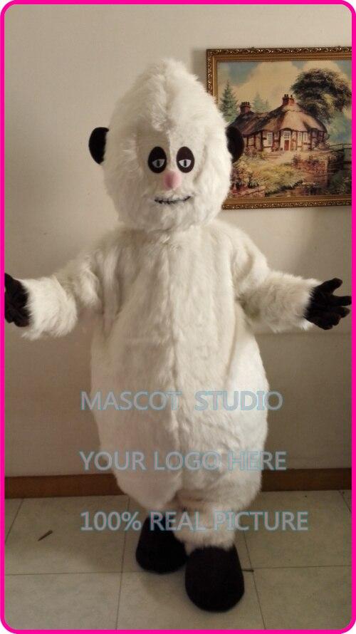Mascotte peluche bonhomme de neige blanc monstre de neige mascotte Costume adulte taille tenue Costume hiver vacances glace monde