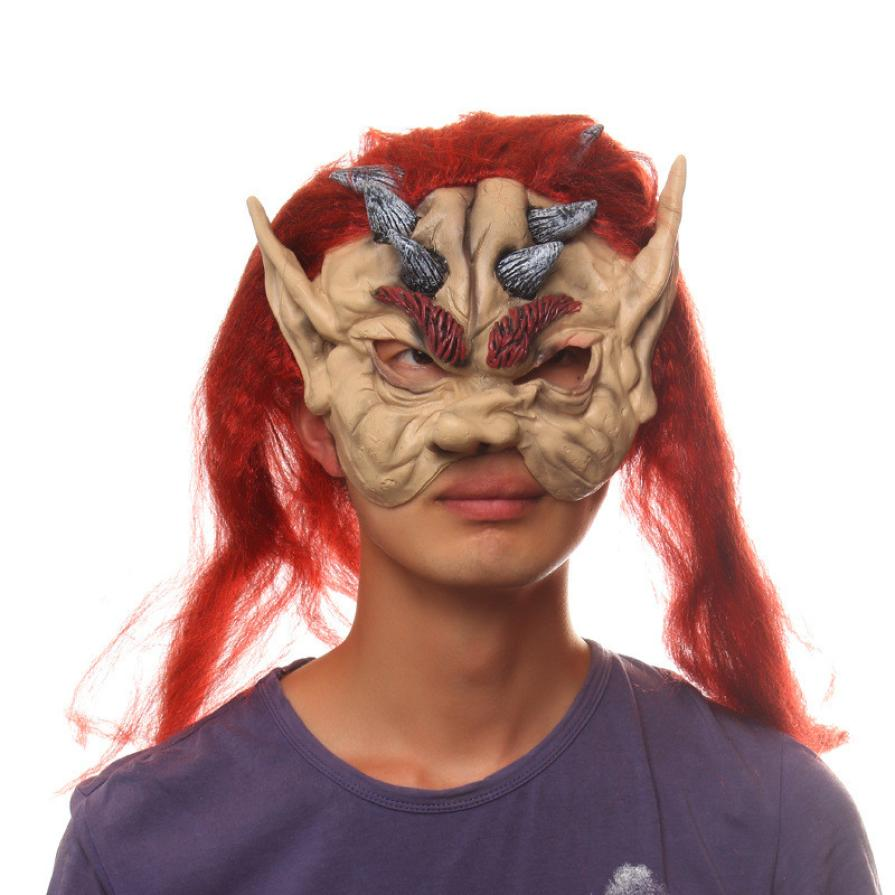 2017 High Quality Lace Mask Magical Bloody Face Off Horror ...