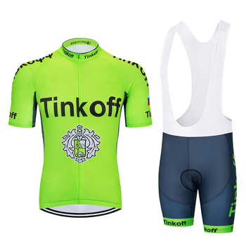 2019 Tinkoff Saxo banco de manga corta Ciclismo Jersey conjunto Ropa Ciclismo...