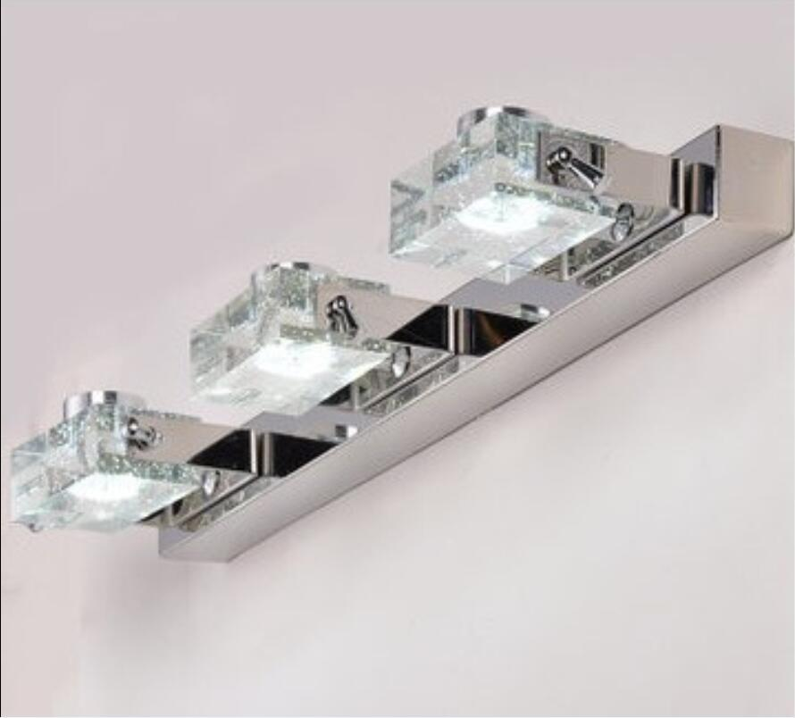 Modern Mirror light crystal lens headlight wall lamp is made of stainless steel bathroom toilet k9 crystal craft bubbles FG16