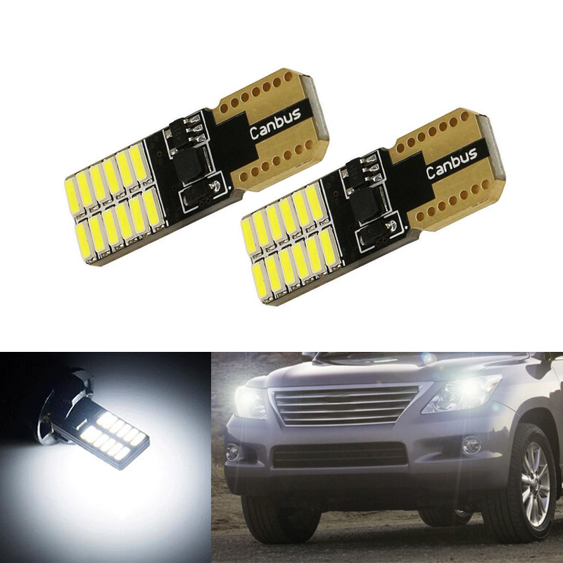 2x T10 W5W LED Wedge Light Marker <font><b>Lamps</b></font> Bulb For <font><b>lexus</b></font> <font><b>rx300</b></font> rx330 rx350 is200 is250 lx570 lx470 gs300 gx47 ES350 image