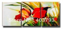 modern abstract fashion oil painting on canvas for home decoration  so 3panels nice flower free shipping