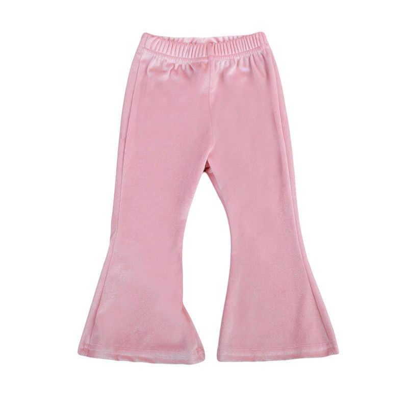 Брюки-клеш для маленьких девочек; сезон зима-осень; детские брюки-клеш для маленьких девочек; широкие брюки-стрейч; Новинка 2017 года; теплые брюки Bebes; От 1 до 7 лет
