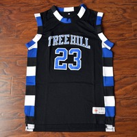 MM MASMIG Nathan Scott #23 One Tree Hill Ravens de Basket-Ball Jersey Piqué Noir S M L XL XXL XXXL