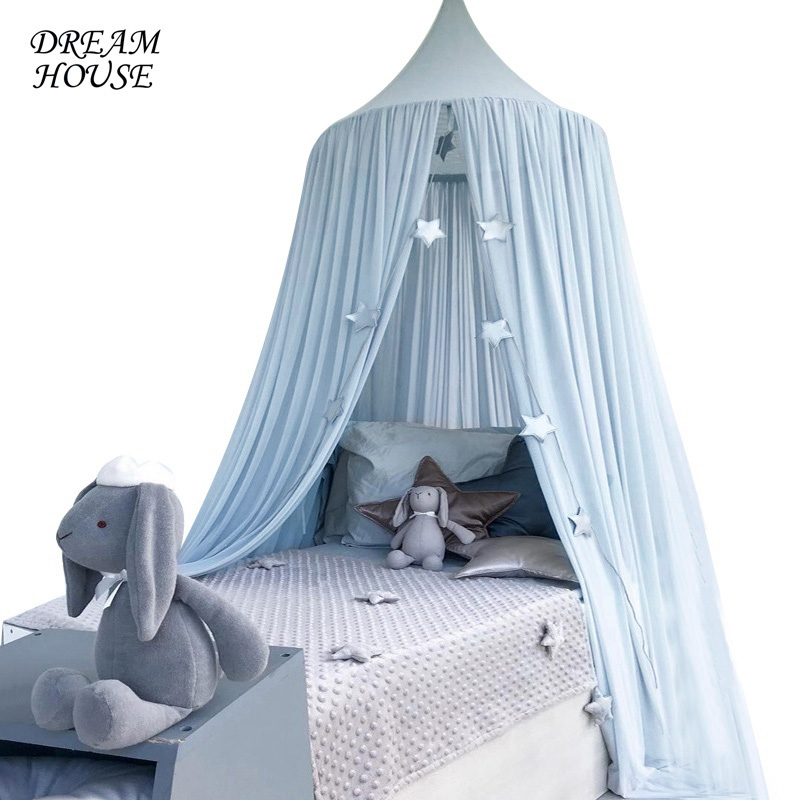 1Piece Kids Crib Netting Hung Dome Hanging Mosquito Net Summer Mosquito Net for Baby Boys Girls Sleeping 5 Colors