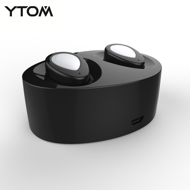 YTOM E800 Original Bluetooth earphone Wireless In-ear Earbuds Double Track earphone for iphone 6 7 Smartphone Bluetooth headset e commerce 30sets z07 5 bluetooth iphone