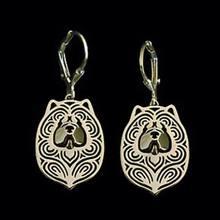 Lovers' Alloy Chow Chow Dog Earrings Women's Dog Shaped Earrings