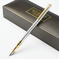 High Quality Luxury 10K Gold Fountain pen ink pen nib 0.5mm Caneta tinteiro Stylo plume Penna stilografica Vulpen 03860