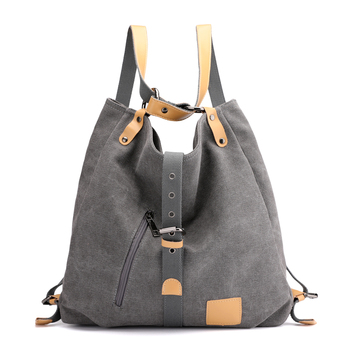 Women Canvas Shoulder Bags Female Back Pack Bags Solid Bucket Bag Fashion Casual Designer Female Handbag Large Capacity Tote 1