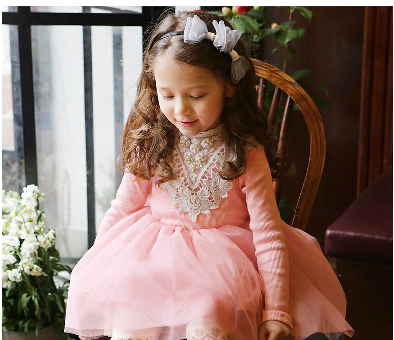 Pink long sleeve toddler dress