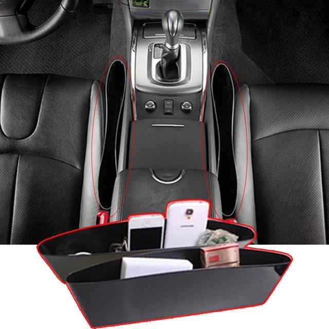 2Pcs PP Car Seat Gap Pocket Holder Organizer Caddy Catch Store All Drop Items Between