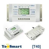 12V 24V 40A Solar Regulator MPPT PWM with LCD Display USB Intelligent Streetlight Three time Solar Charge Controller Y SOLAR