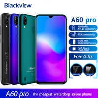 Blackview A60 Pro 4G Smartphone Android 9.0 3GB di RAM 16GB di ROM 4080mAh Batteria 6.088 ''Waterdrop impronte Digitali dello schermo Unlock Mobile