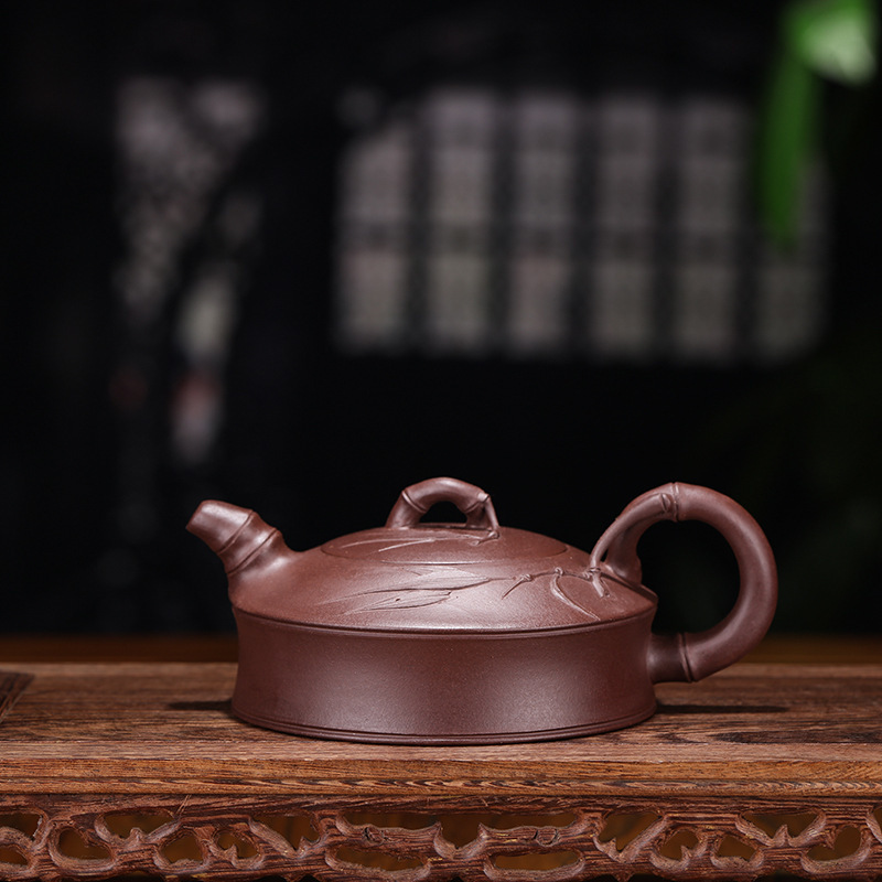 Tea Set Wholesale Bamboo Joint Kettle Famous Pure Manual Raw Ore Purple Ink For Imprinting Of Seals Household Wholesale RetailTea Set Wholesale Bamboo Joint Kettle Famous Pure Manual Raw Ore Purple Ink For Imprinting Of Seals Household Wholesale Retail