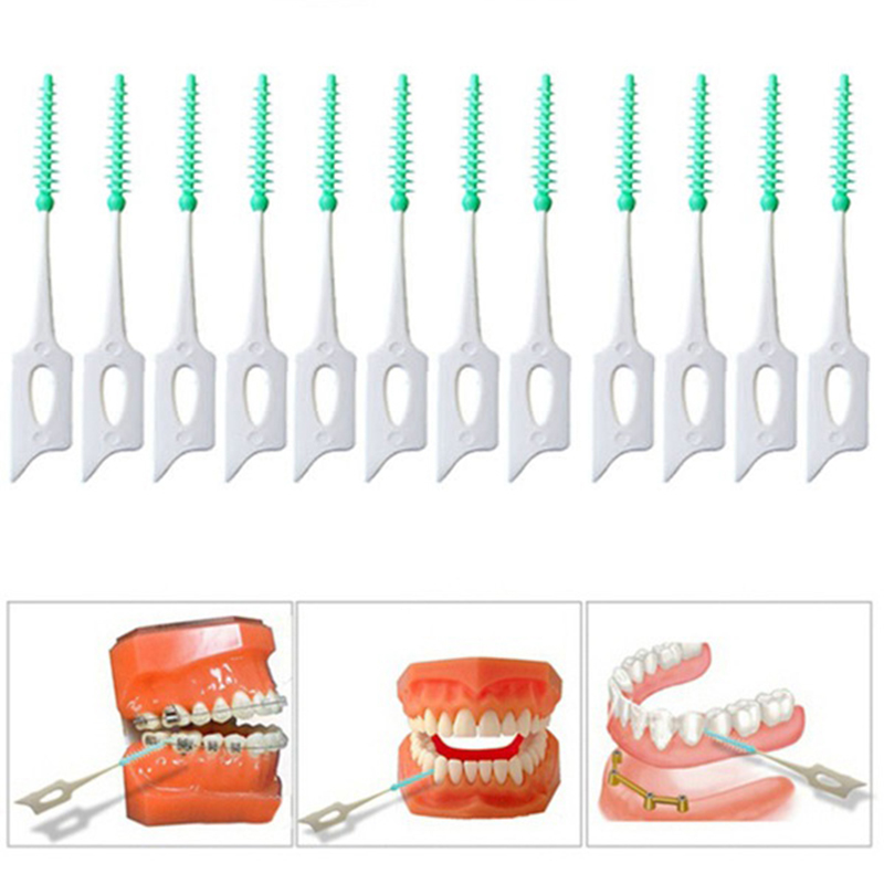 Interdental Brush 20PCS Dental Floss Interdental Cleaners Orthodontic Dental Teeth Brush Toothpick Oral Care Tool