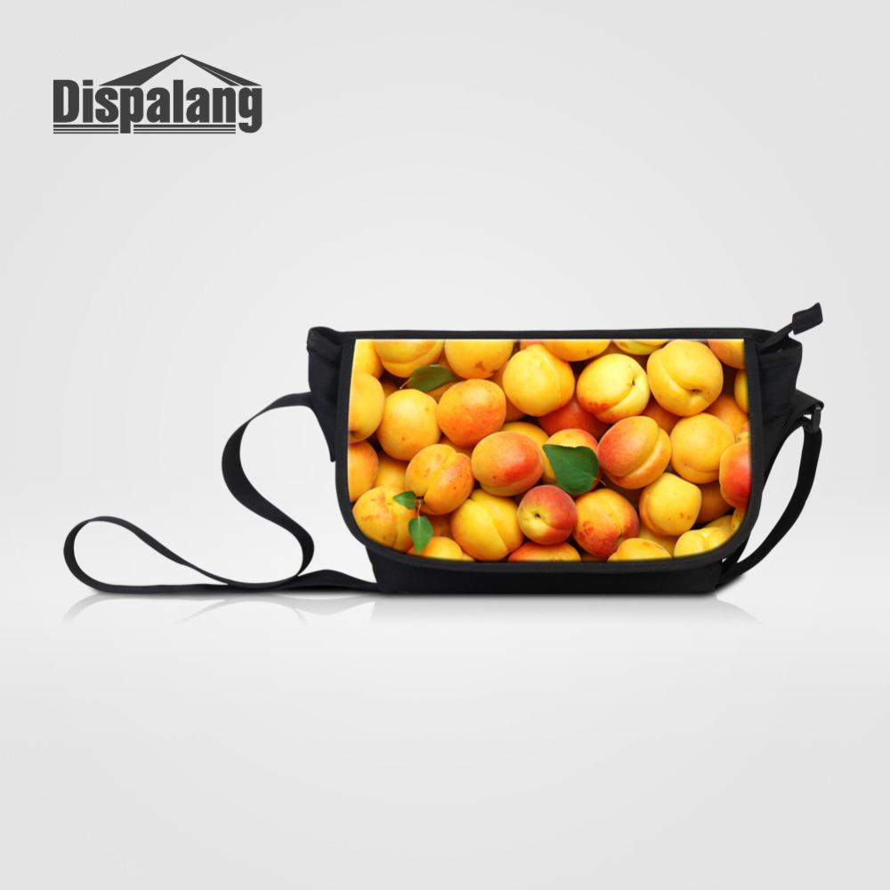 Dispalang 3D Fruits Print Messenger Bags for Wome Men Casual Crossbody Bag Children School Shoulder Bags Girls Large Handbag