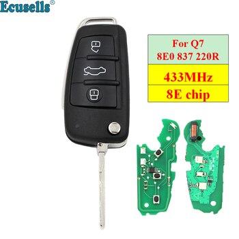 Zdalny klucz składany centralny zamek z pilotem fob 3 przyciski 433 MHz z 8E układu dla Audi Q7 8E0 837 220 R