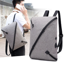 14 14.6 15 15.4 Inch with USB AUX Interface Nylon Notebook Laptop Backpack Bags Case for macbook 15 men women student