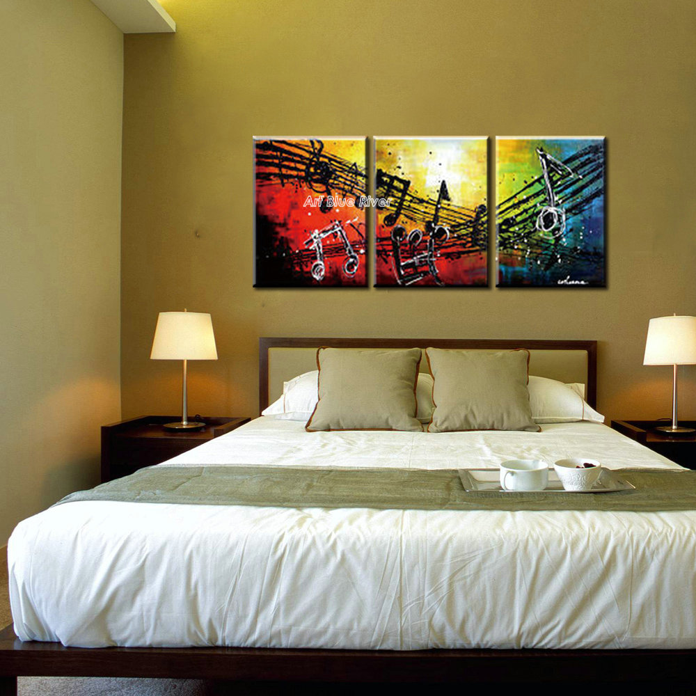 Most Beautifull Deco Paint Complete Bed Set: Aliexpress.com : Buy Beautiful 3 Panel Canvas Wall Art