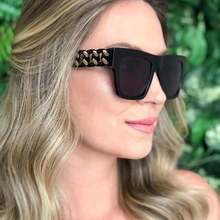PAWXFB New Square Sunglasses women High Quatily Female Twist shape Frame Sun Glasses Fashion Oversized Shades