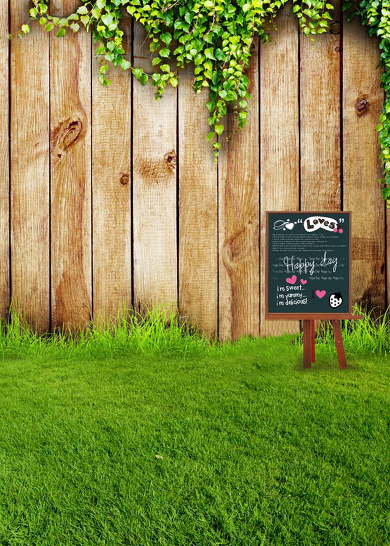 Wooden fence on the grass field vinyl digital cloth backdrops for photo studio photography background props S-612  сайдинг vinyl on 3660х230 мм серо голубой