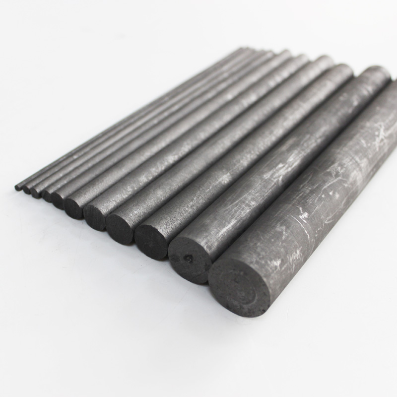 Graphite Carbon Rod Cylinder Electrode Welding Mixing Stirring Stick Melting Machined Metal Thick