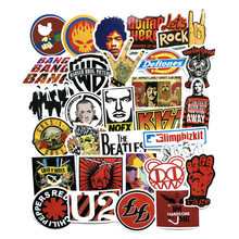 50 Pcs Rock & Roll Mixed Hip Hop Stickers Toy for Laptop Skateboard Luggage Guitar Suitcase Music Punk Graffiti PVC Sticker Pack(China)
