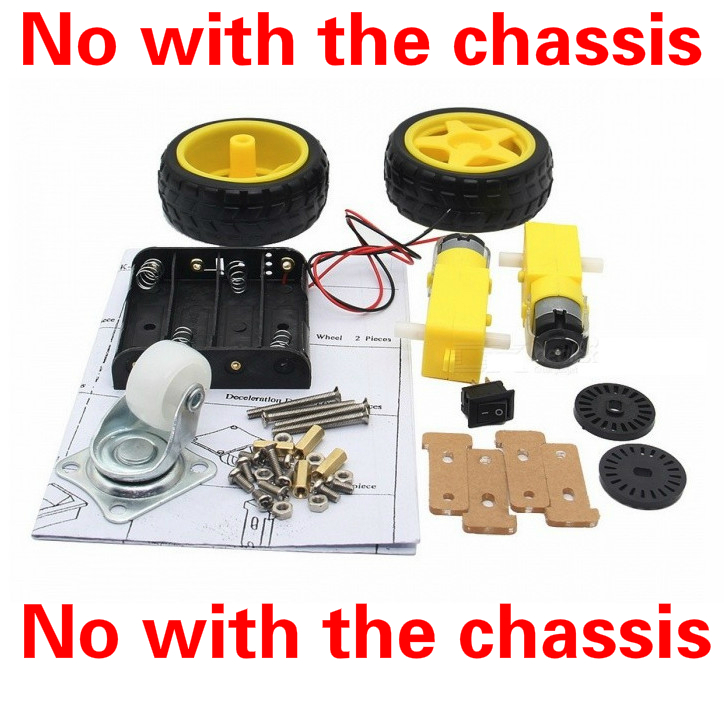 1/kit 2WD smart robot car no with the chassis / DC3-6V TT motor 125 rpm / Intelligent car wheels for Arduino DIY Kit