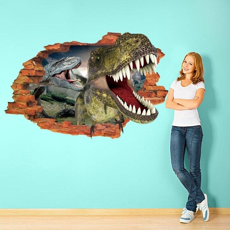 Dinosaur wall sticker kids bedroom living room home decoration