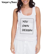 DIY Custom Print Design Fashion Women Tank Top Fitness Under