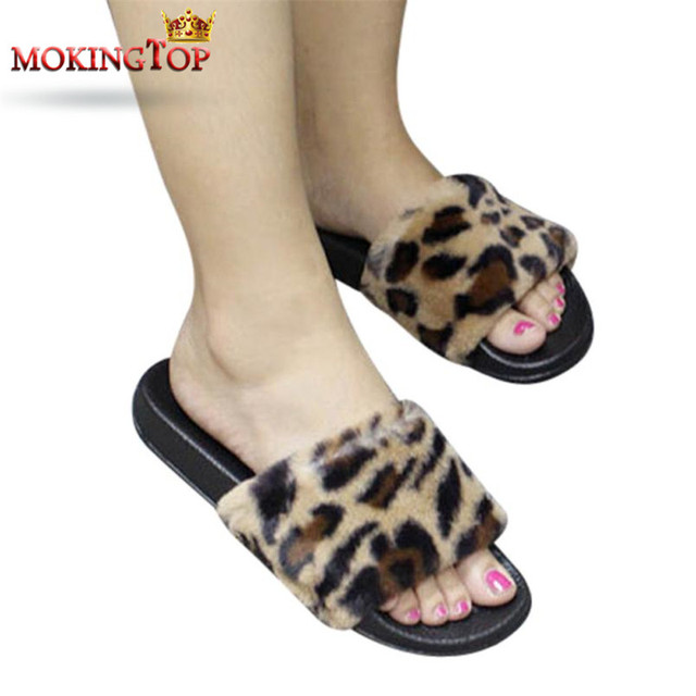 fd3497b38623ff MOKINGTOP Leopard Summer Platform slippers Flip Flops womens lady Outdoor  flat slipper summer 2018 womans slipper