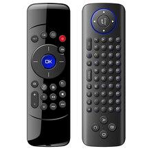 C2 2.4 ghz Fly Air Mouse Teclado de Controle Remoto com Função de Aprendizagem IR Sem Fio para Android TV Box