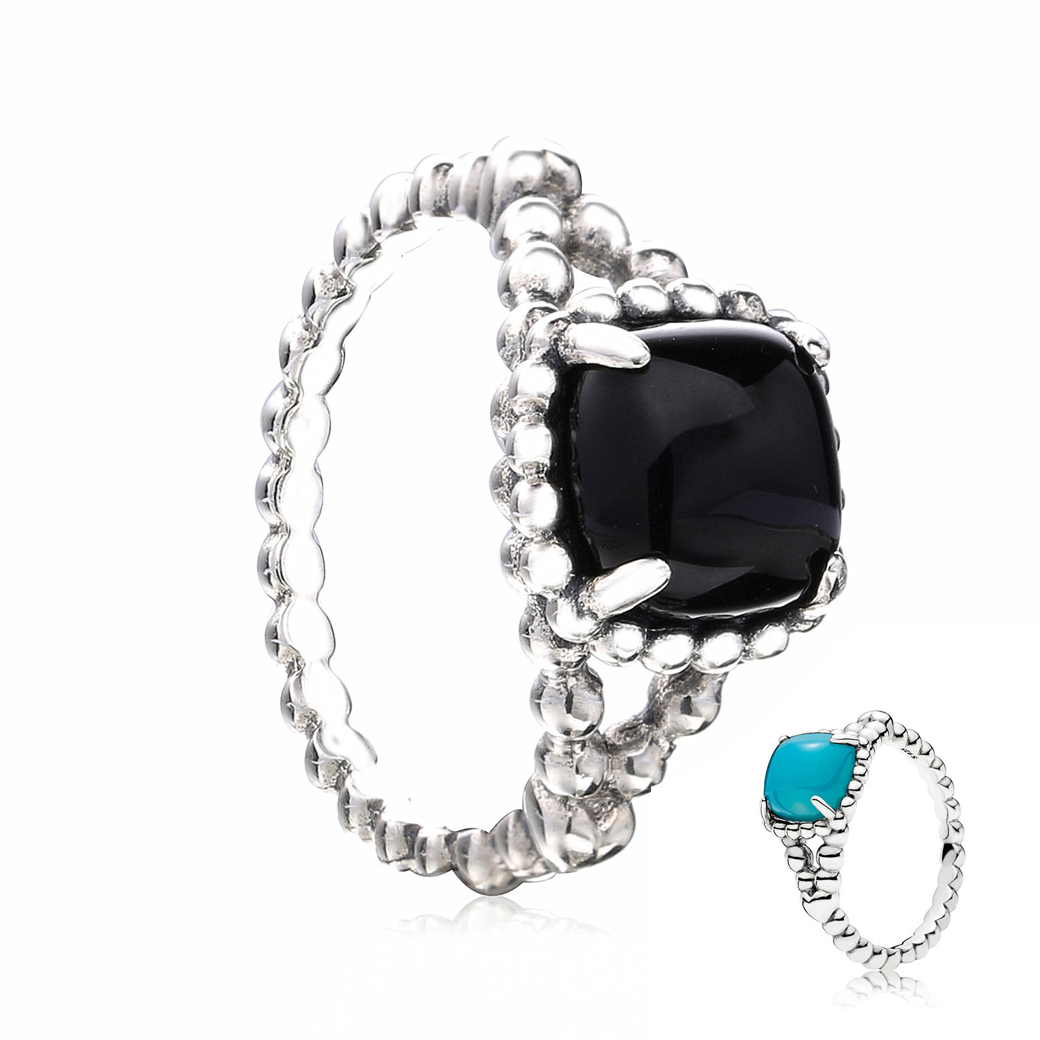 54d2d4792 2018 Summer Collection 925 Sterling Silver Original Black Vibrant Spirit  Europe Ring For Women Gift Charm DIY Jewelry 197188NCK-in Wedding Bands  from ...