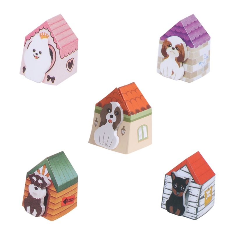 Dog House Memo Pads Sticky Notes Writing Paper Notepad Home Office Stationery