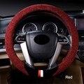 Fleece in one side car steering wheel cover slip soft, comfortable,warm , green no smell,apply wheel diameter 38cm